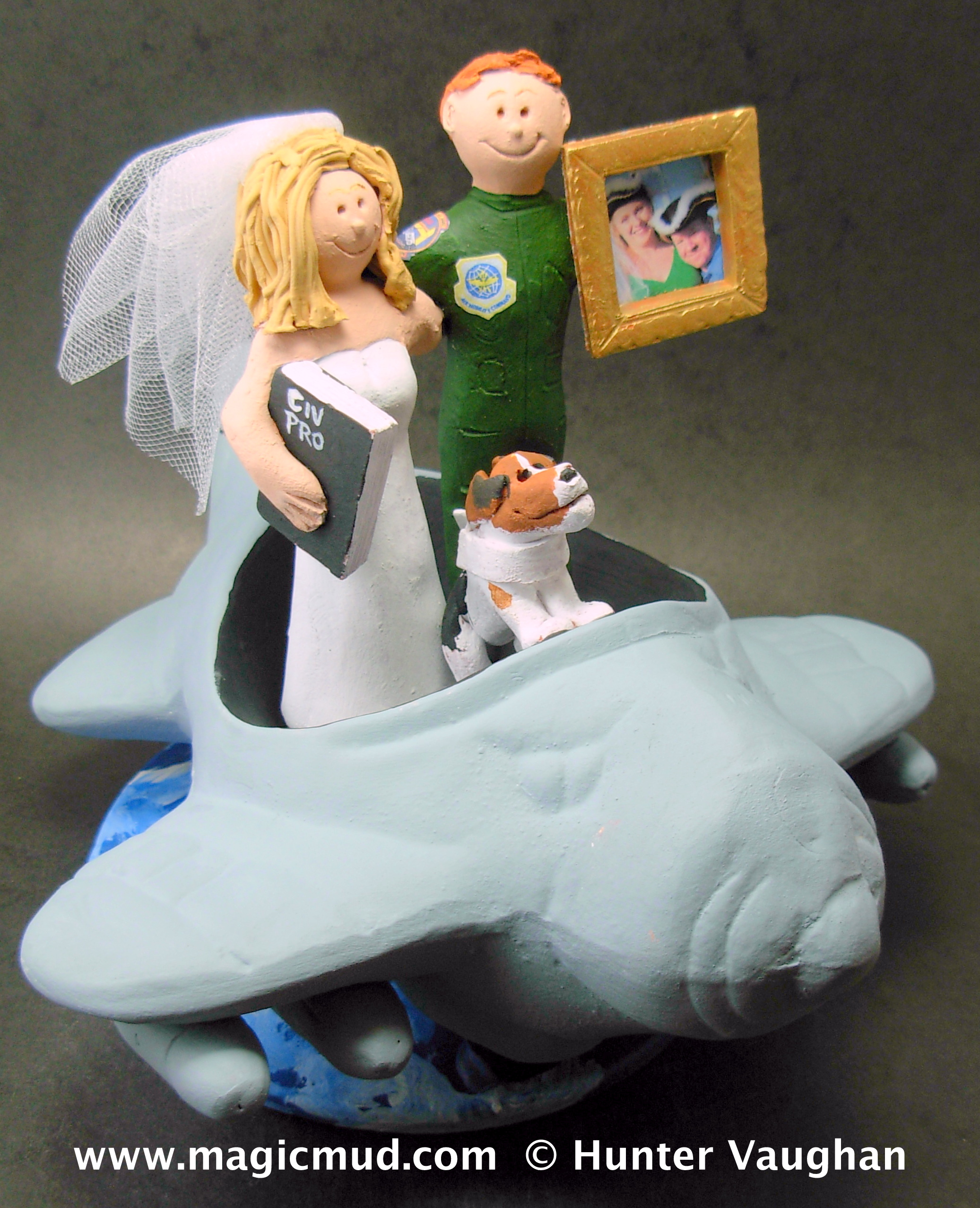 Airplane And Pilot Wedding Cake Toppers