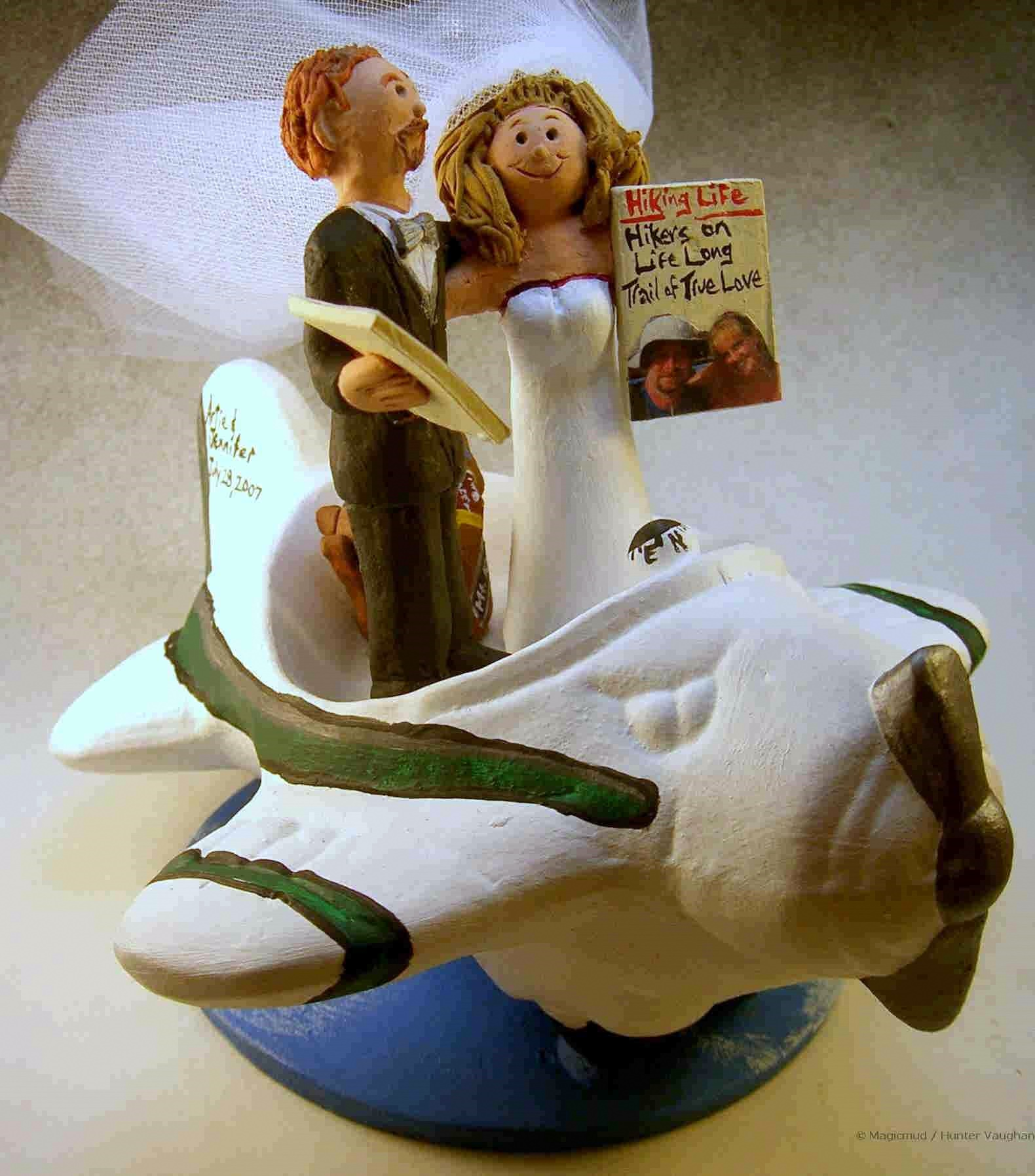 Airplane Themed Wedding Cake Topper