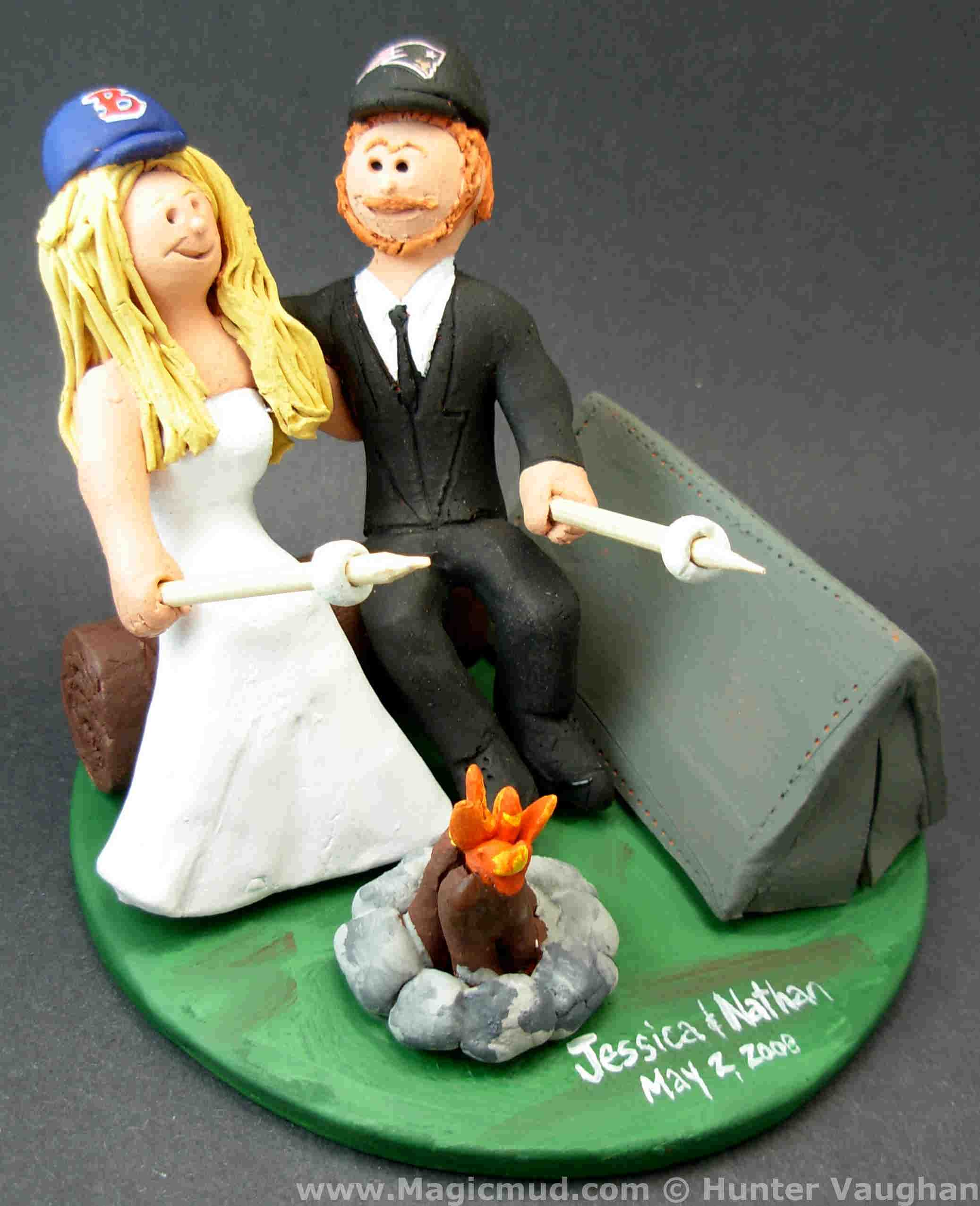 Campers Wedding Cake Topper