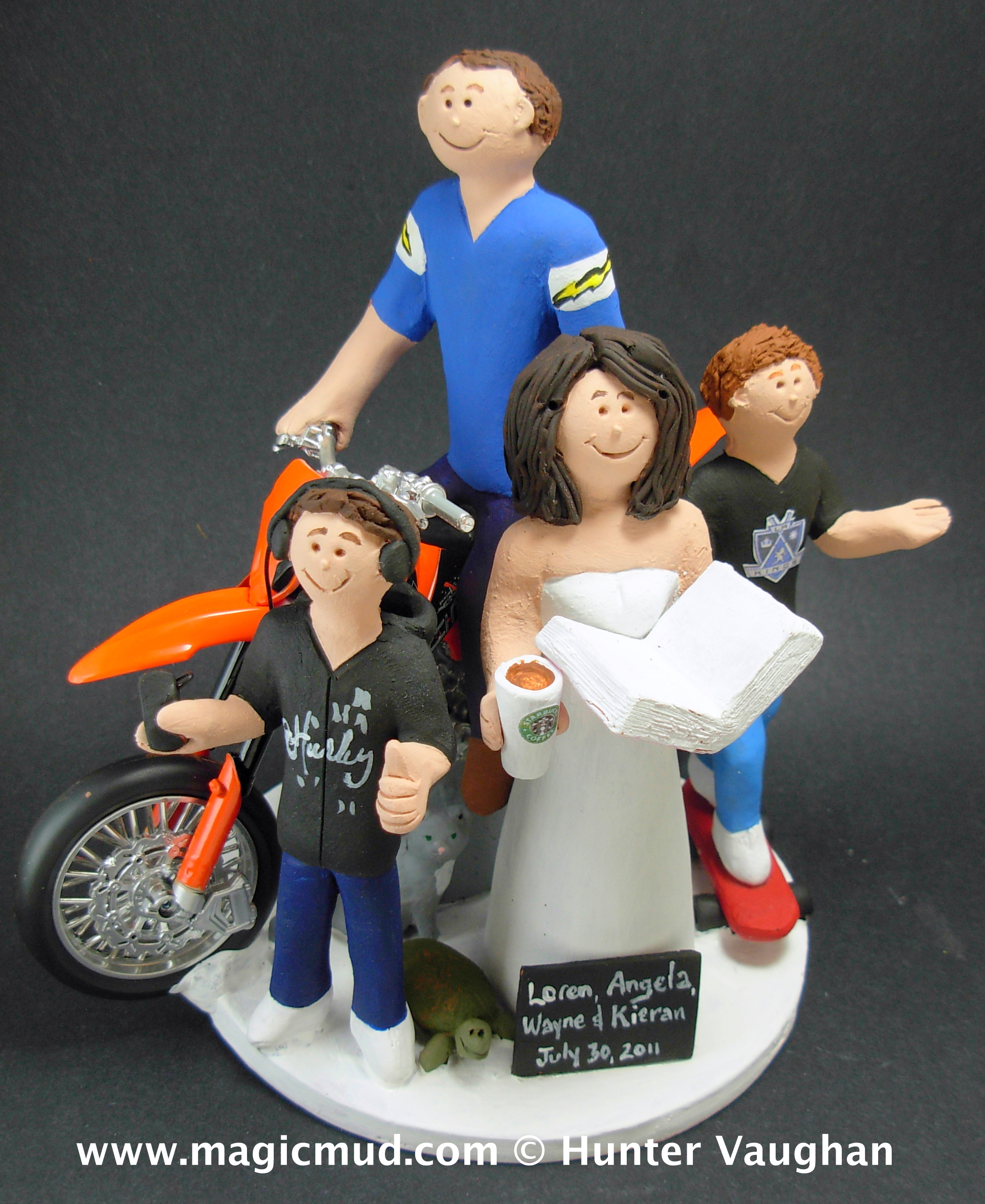Wedding Cake Toppers Blended Family Reserved for karen balance