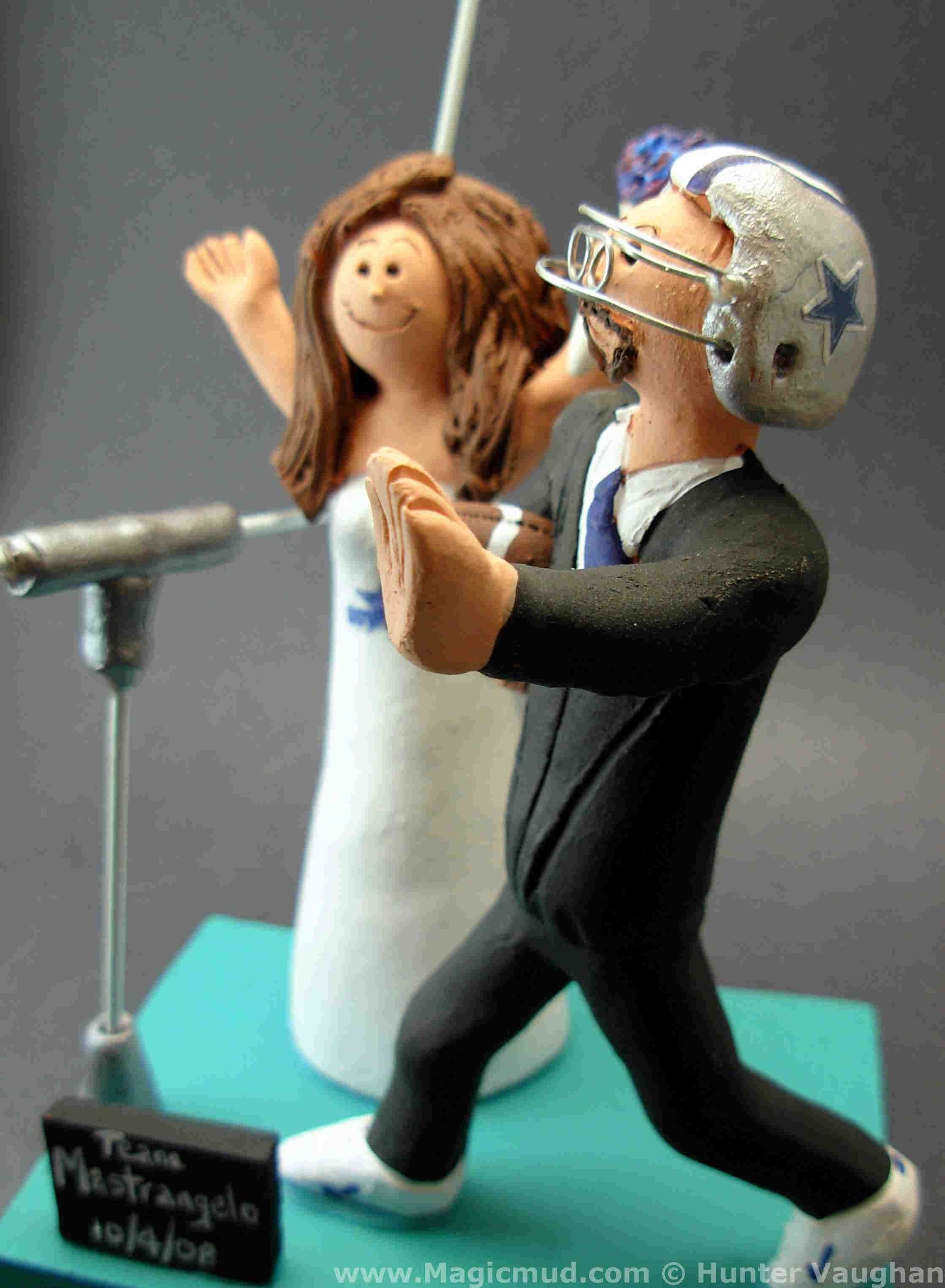 Cheerleader Wedding Cake Topper