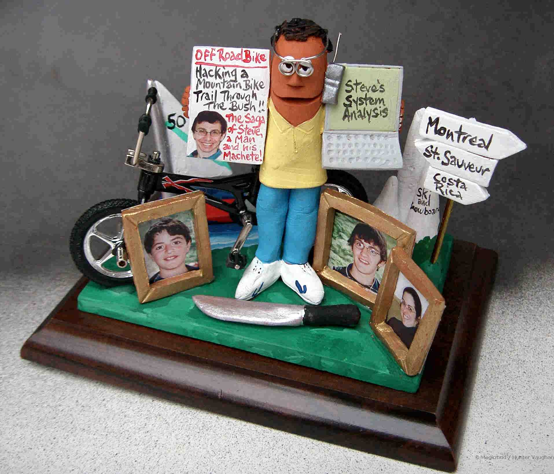 Dads 50th Birthday Clay Caricature With His Mtn Bike Family Photosdestination