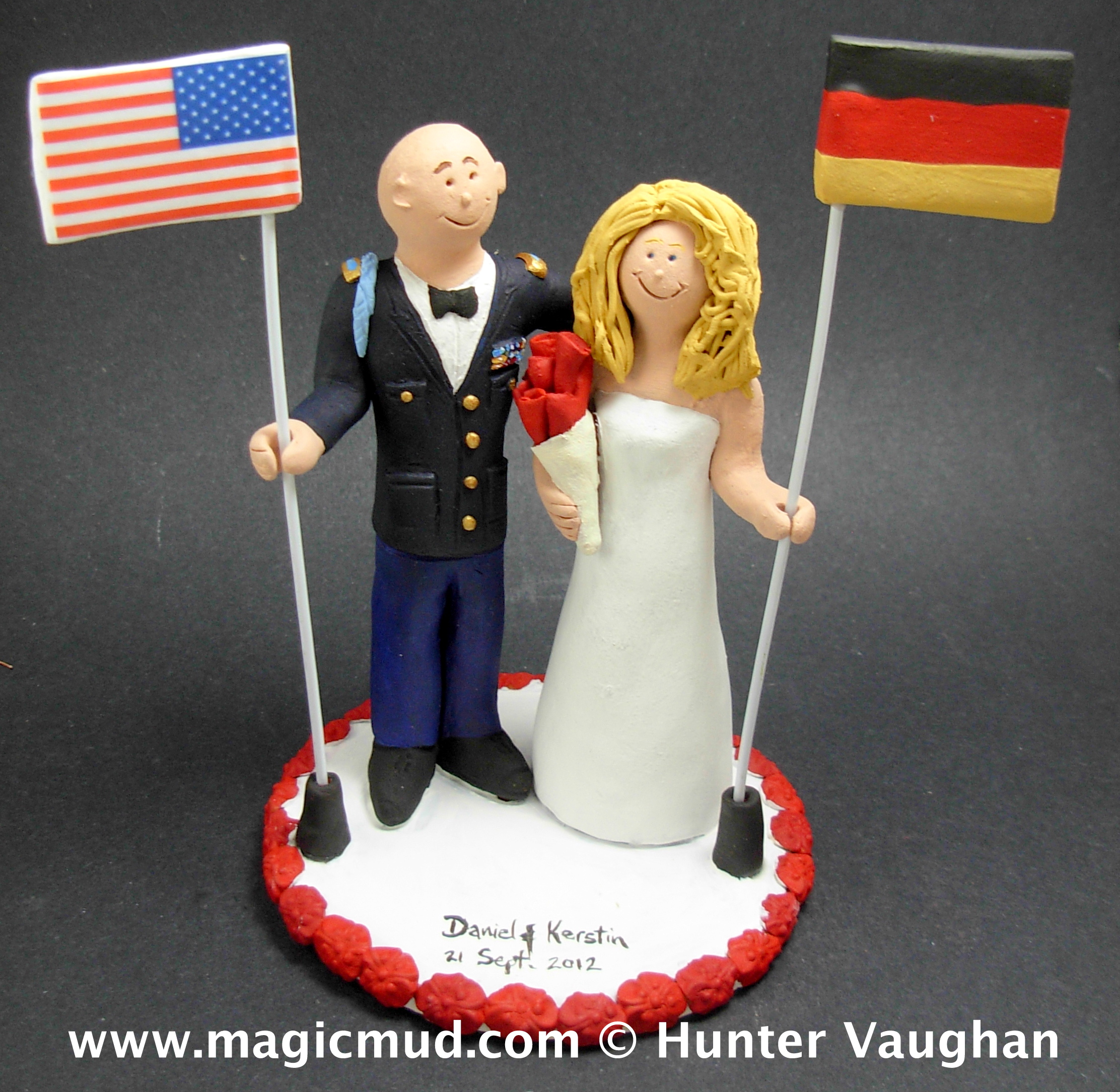 Flags Wedding Cake Toppers
