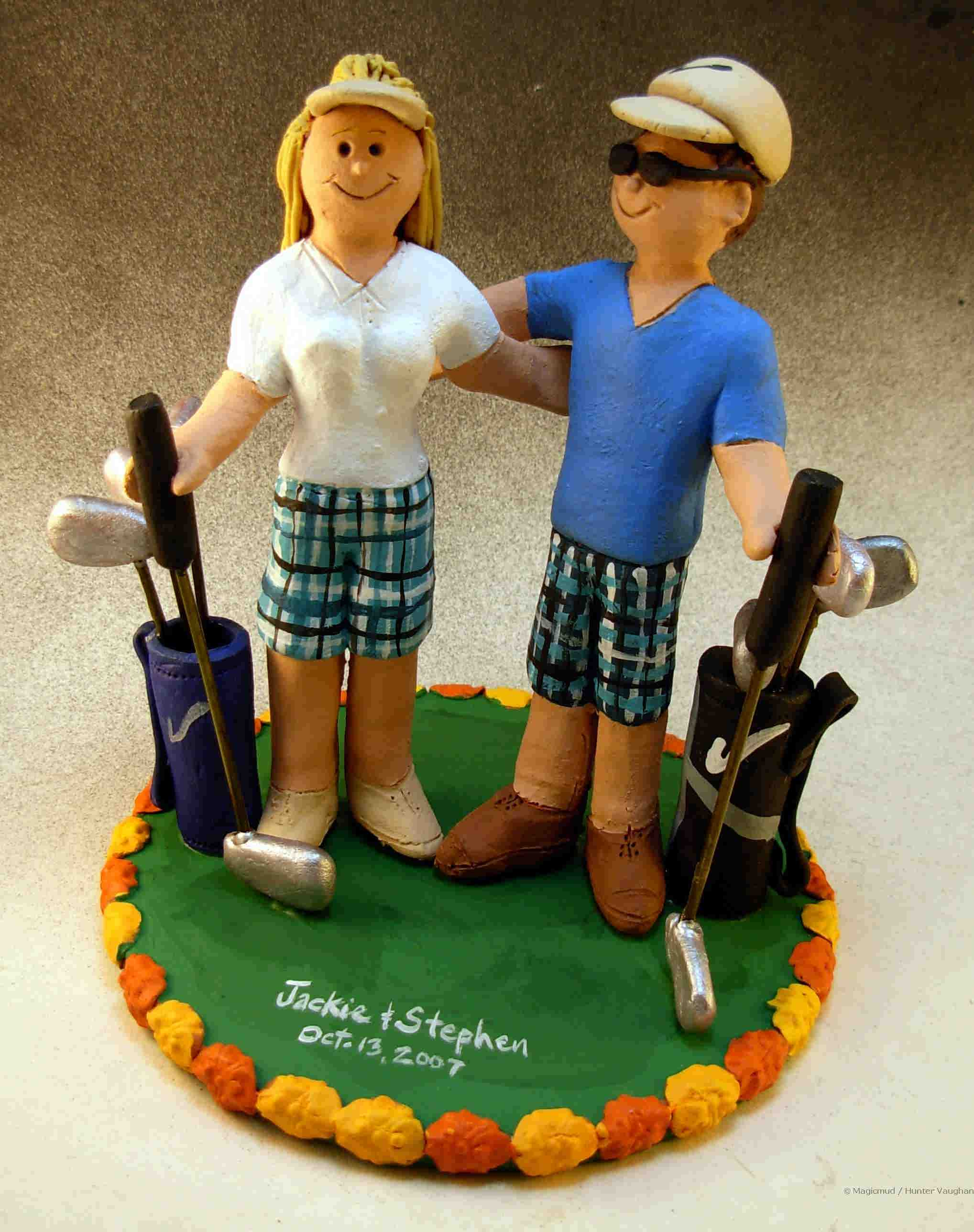 Wedding Cake Topper for Golfers