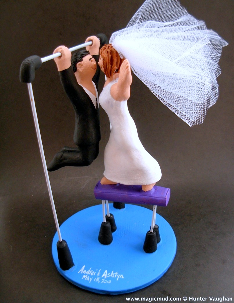 Gymnast S Wedding Cake Topper