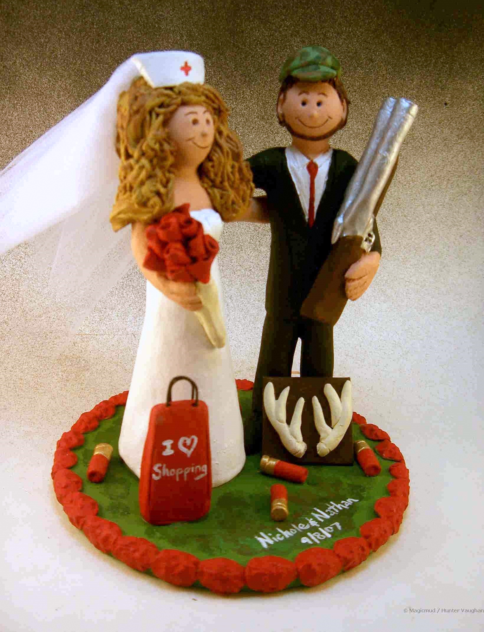 Hunter Weds Nurse Cake Topper