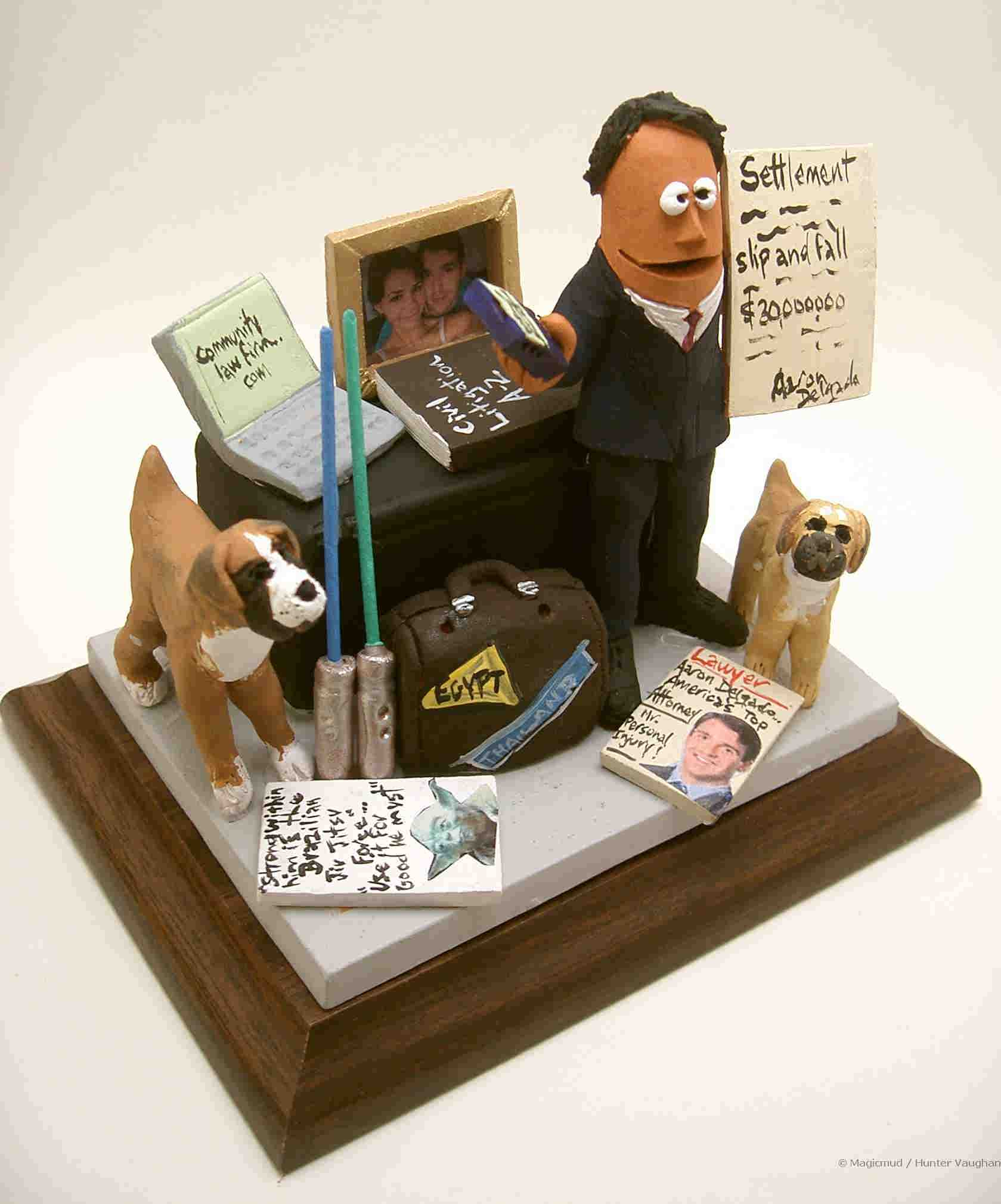 lawyer figurines attorney statues legal caricatures custom made