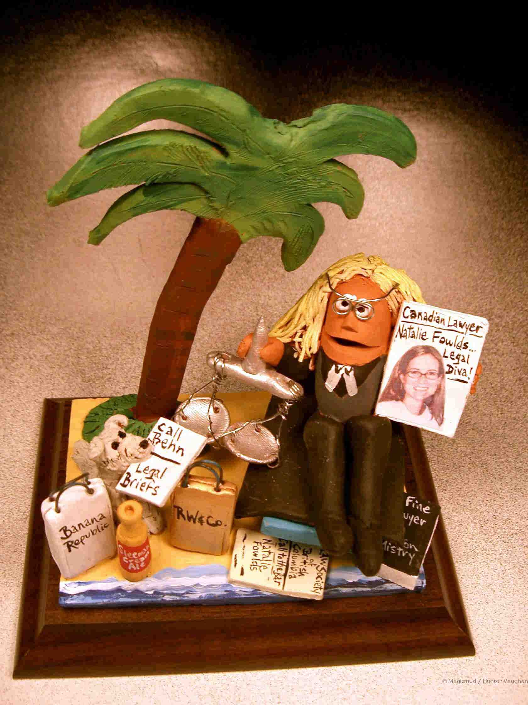 Lady Lawyer Figurine With Her Pet Dog Shopping Bags Business And Pleasure Combined