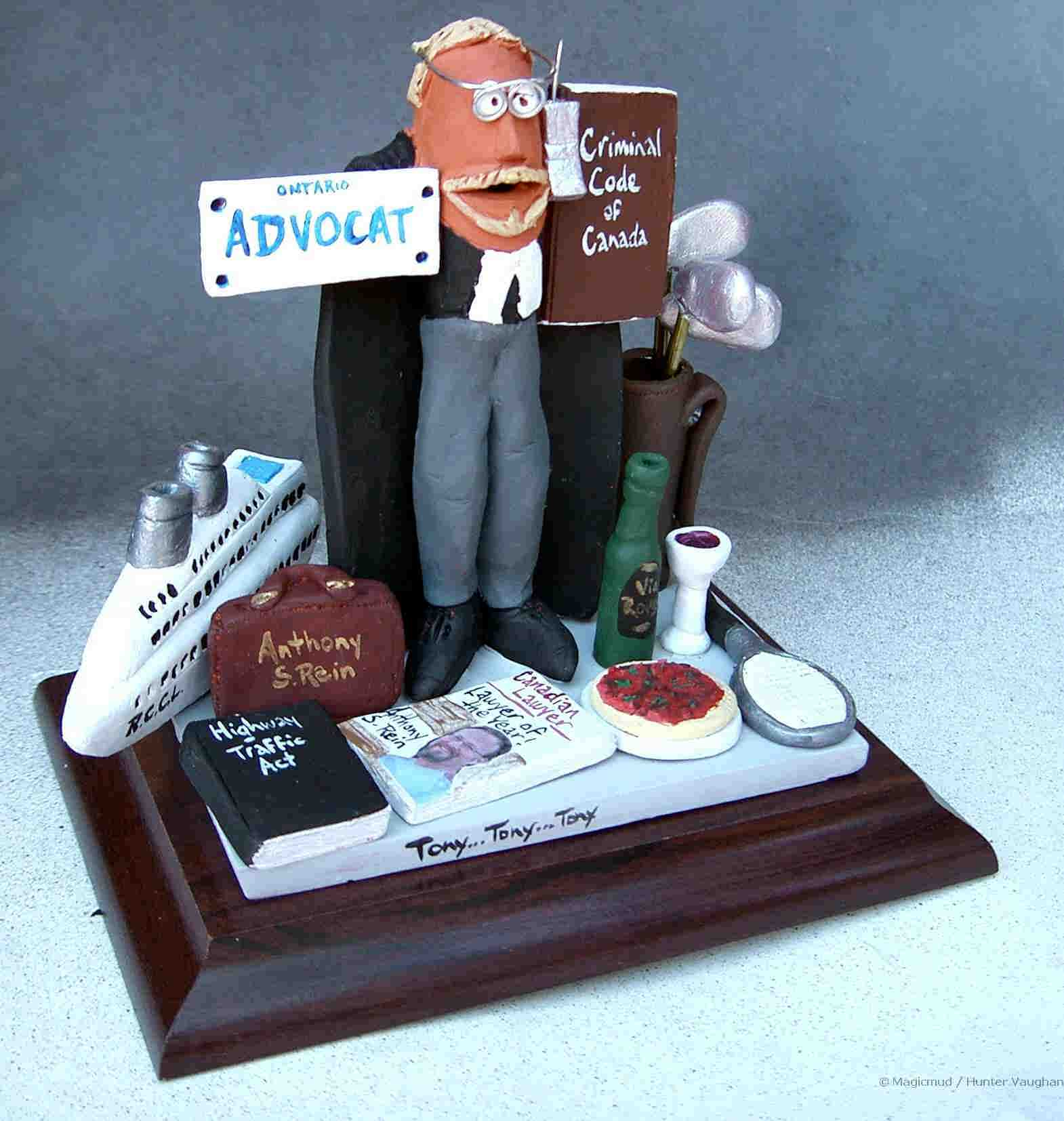 Lawyer Statue With His Personal License Plate Cruise Ship And More