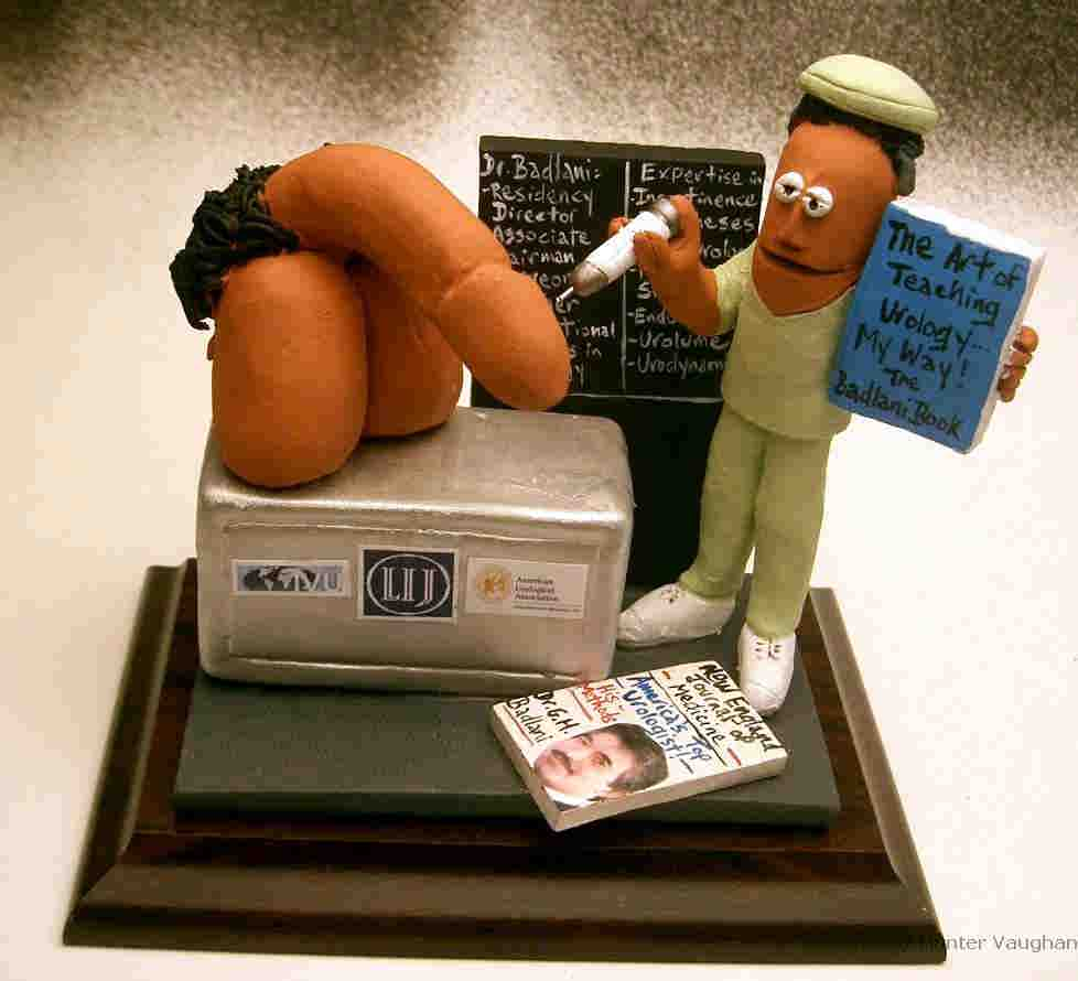 Personalized Gift For A Urologista Clay Caricature Of The Dr In