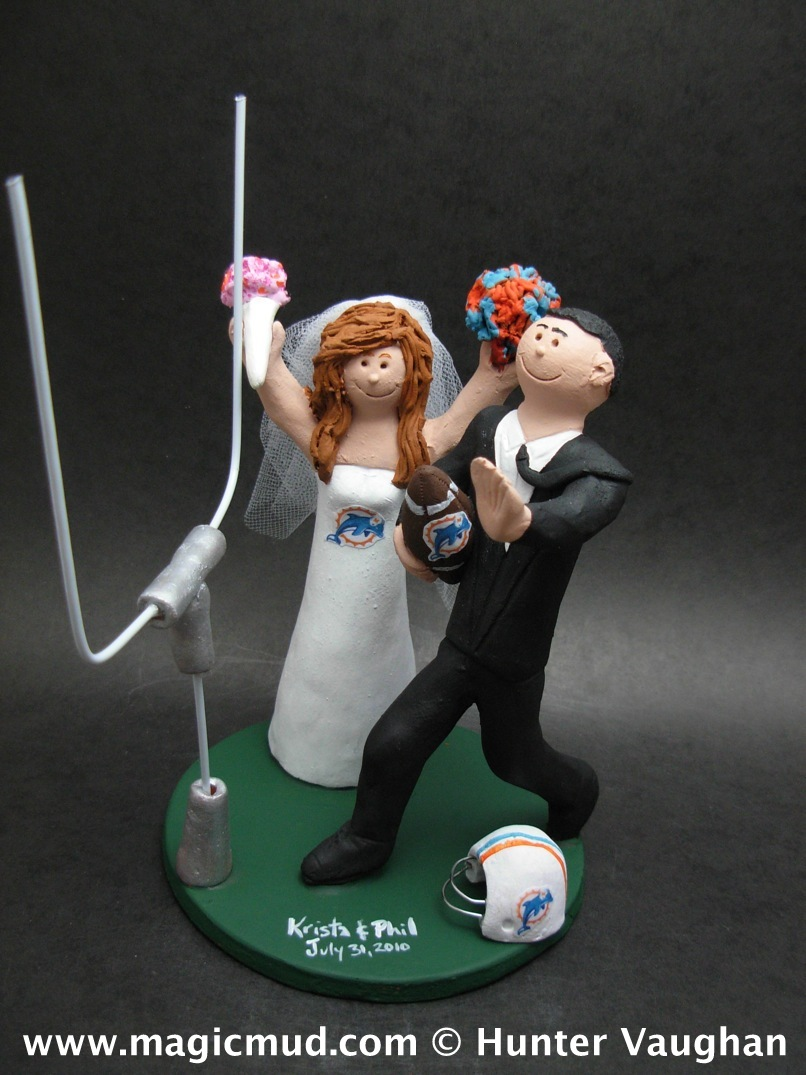 Football Wedding Cake Toppers