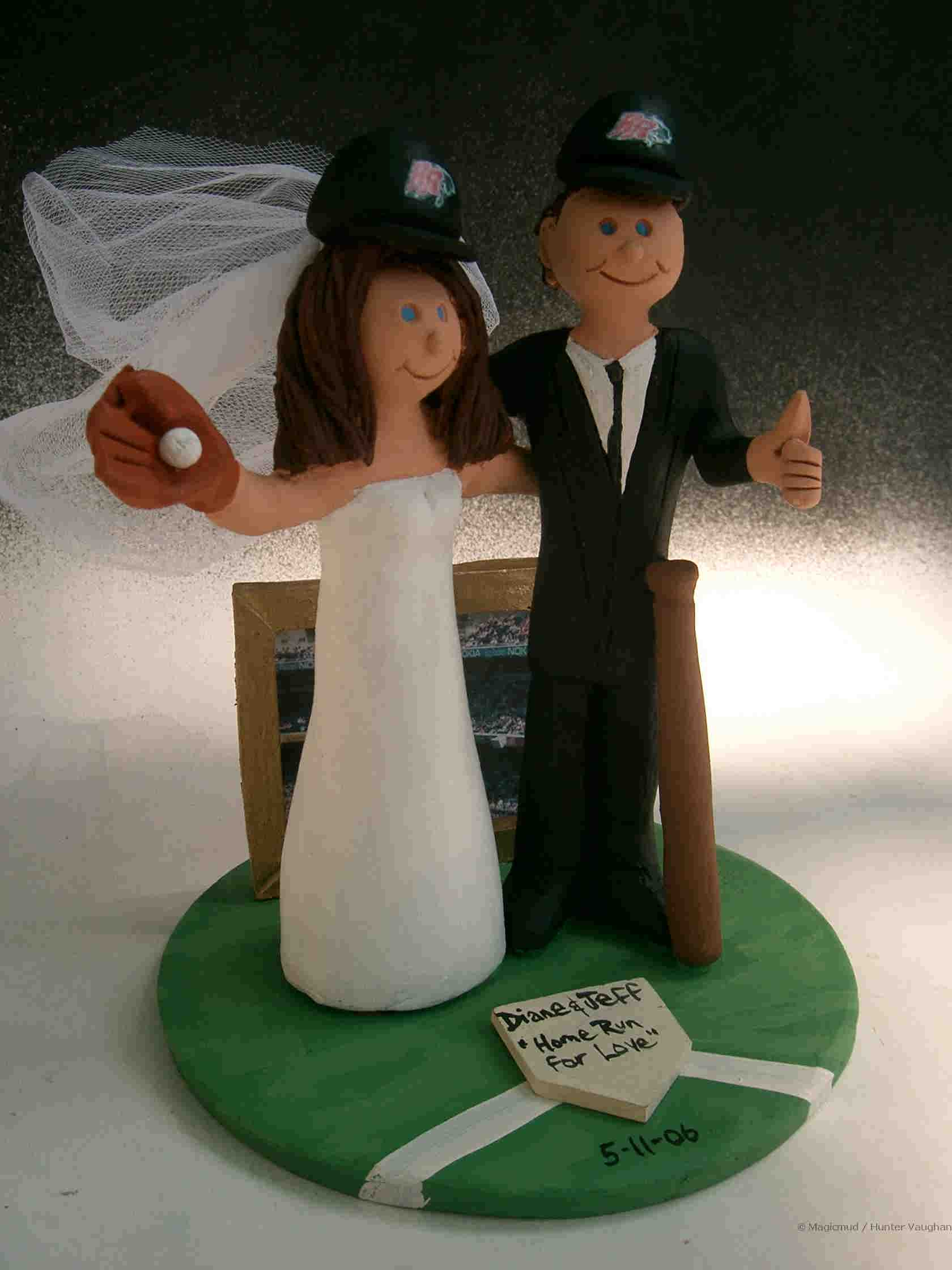 Play Ball Wedding Cake Topper