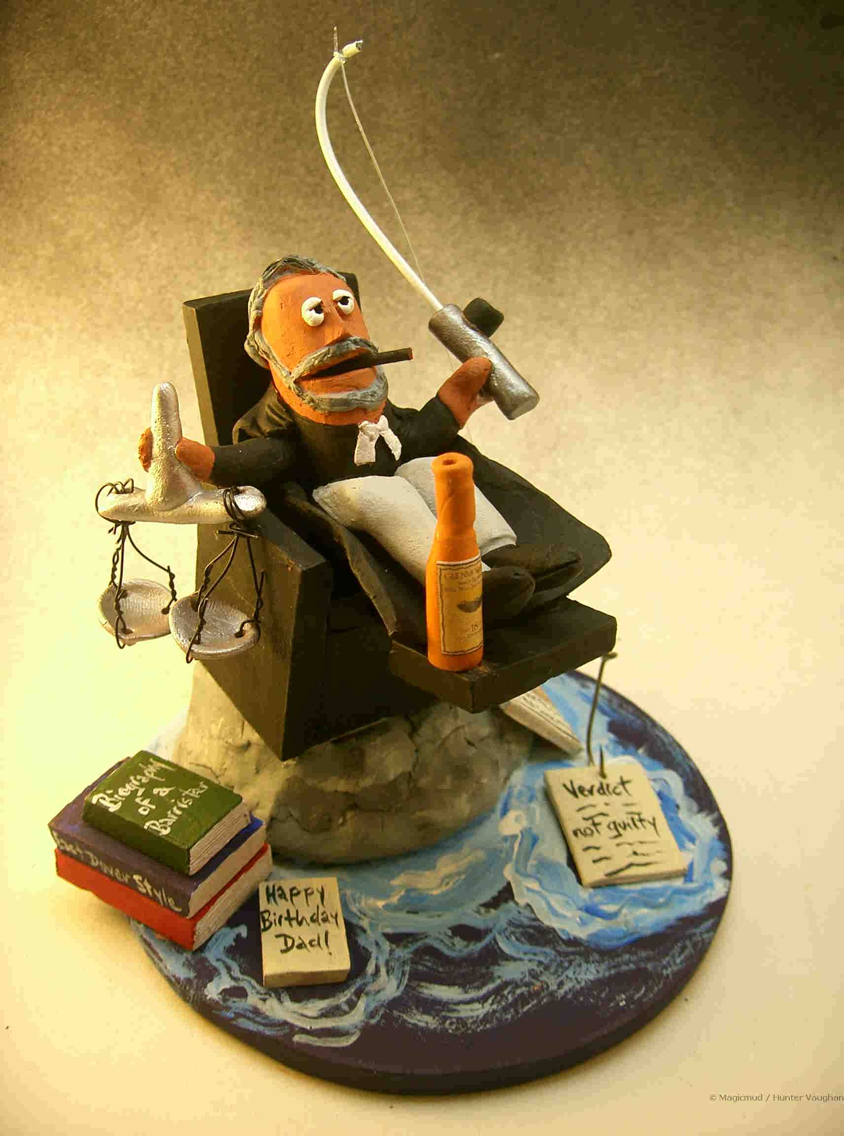 lawyer figurines  attorney statues  legal caricatures
