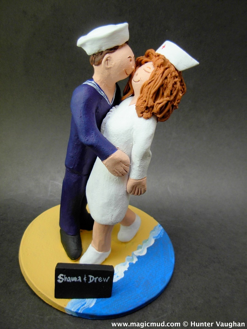 US Navy Sailors Wedding Cake Topper