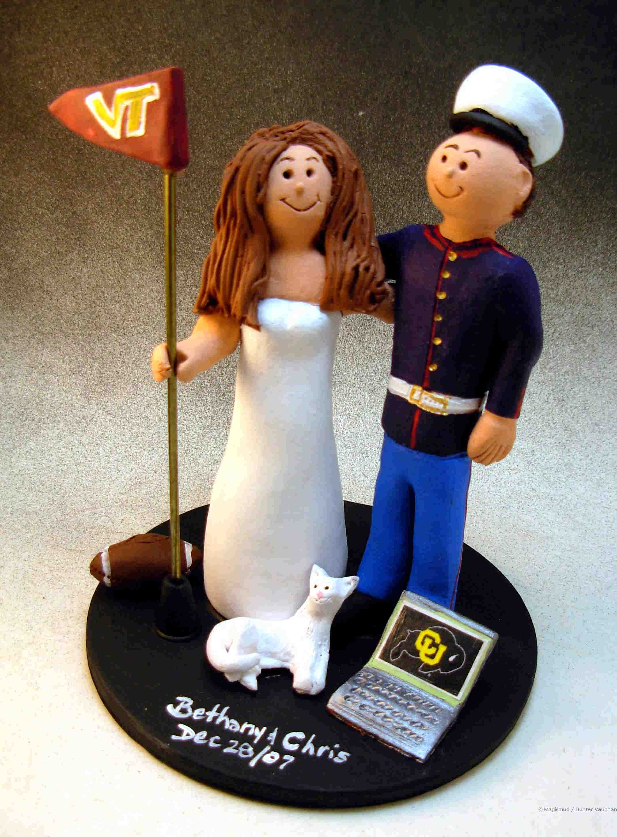 Marine Wedding Cake Toppers Wallpaper