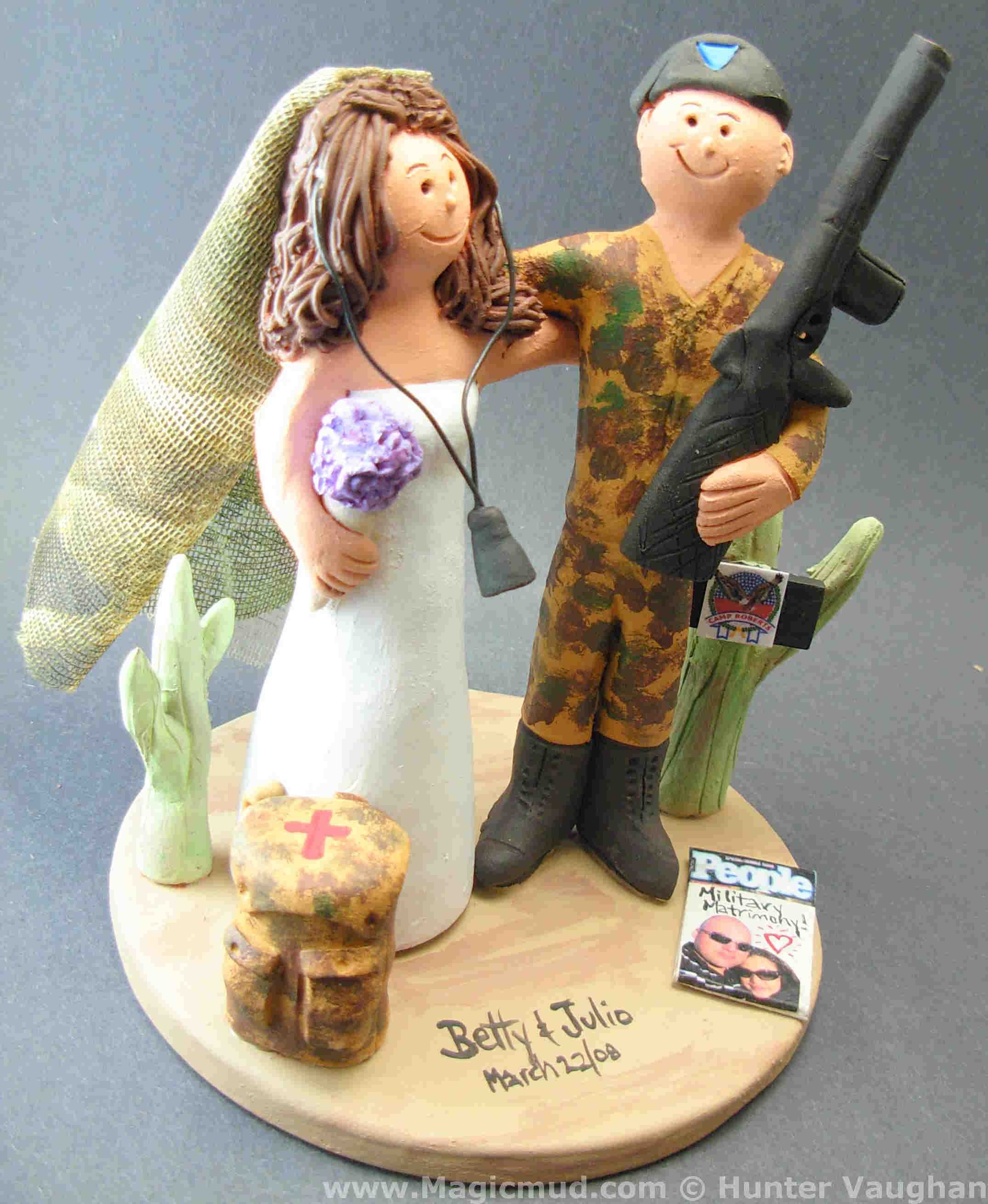 usmc wedding cake toppers