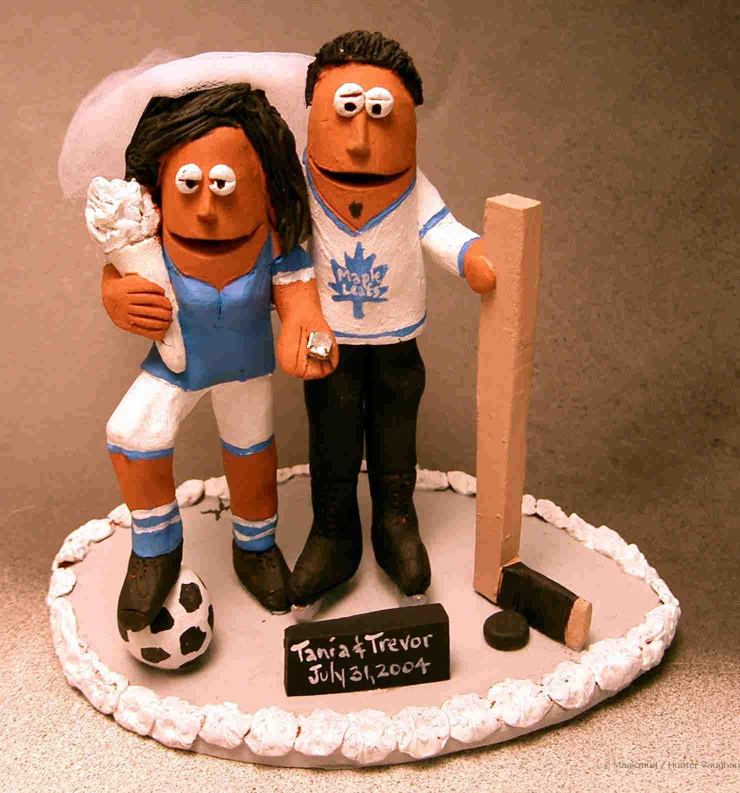 Any Sports Wedding Cake Top Can Be Sculpted For You Soccer Bride And Hockey Groom Topper