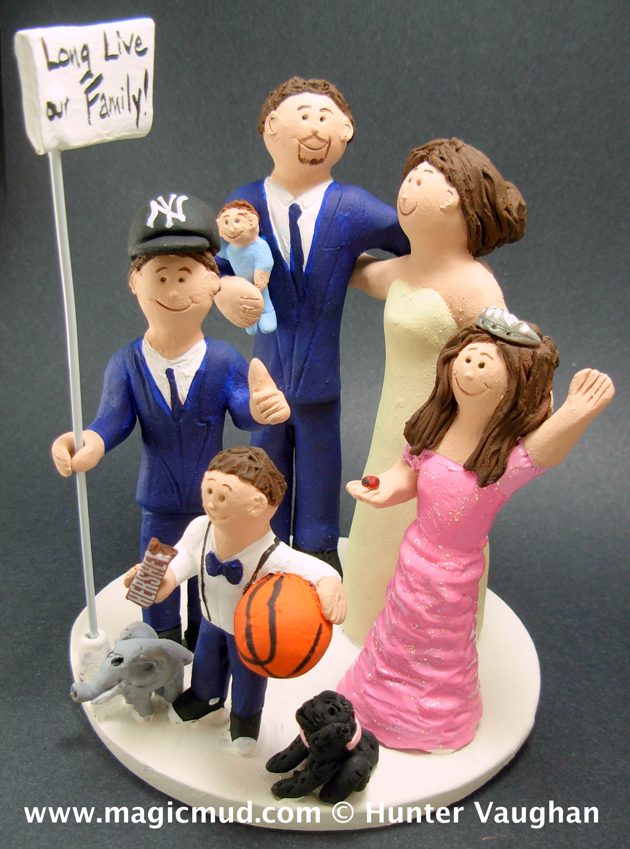 Blended Family Wedding Cake Toppers