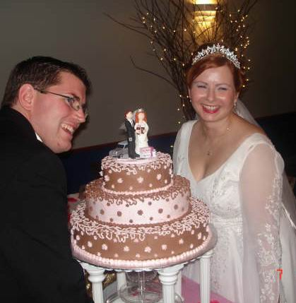 Toasting with Coffee Wedding Cake Topper