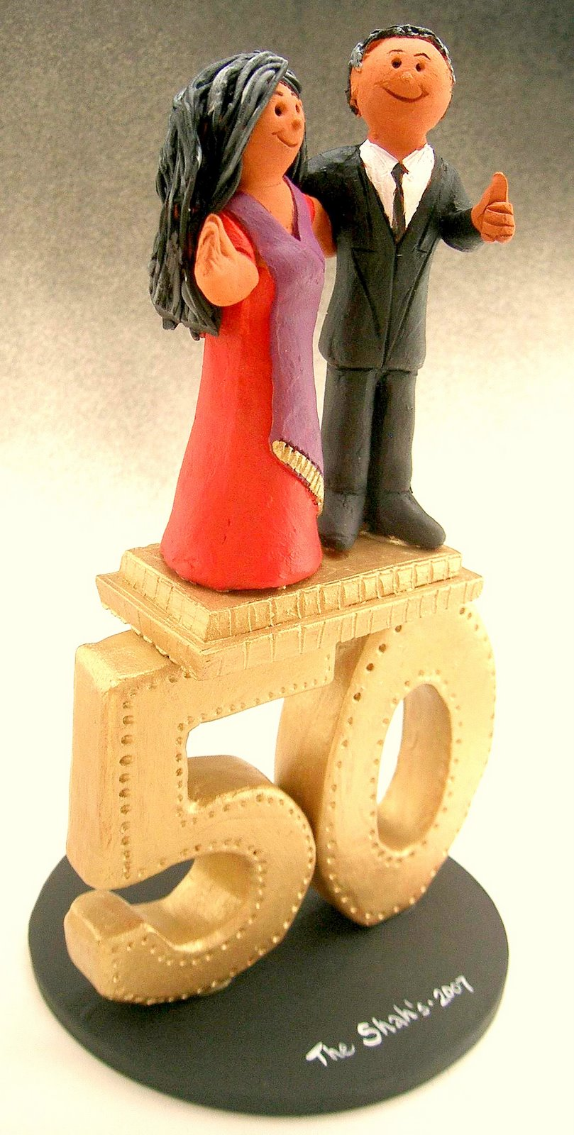 gold wedding cake toppers