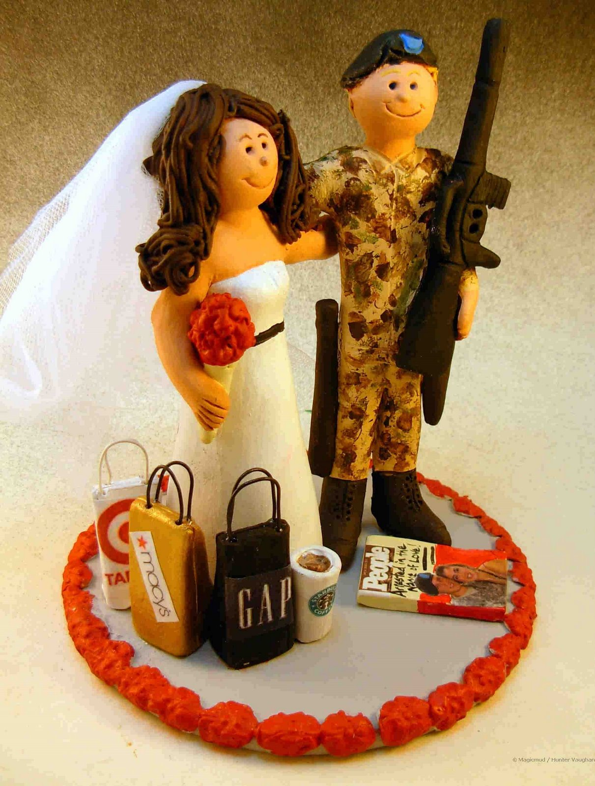 army wedding toppers. wedding cake topper of the day...military army toppers