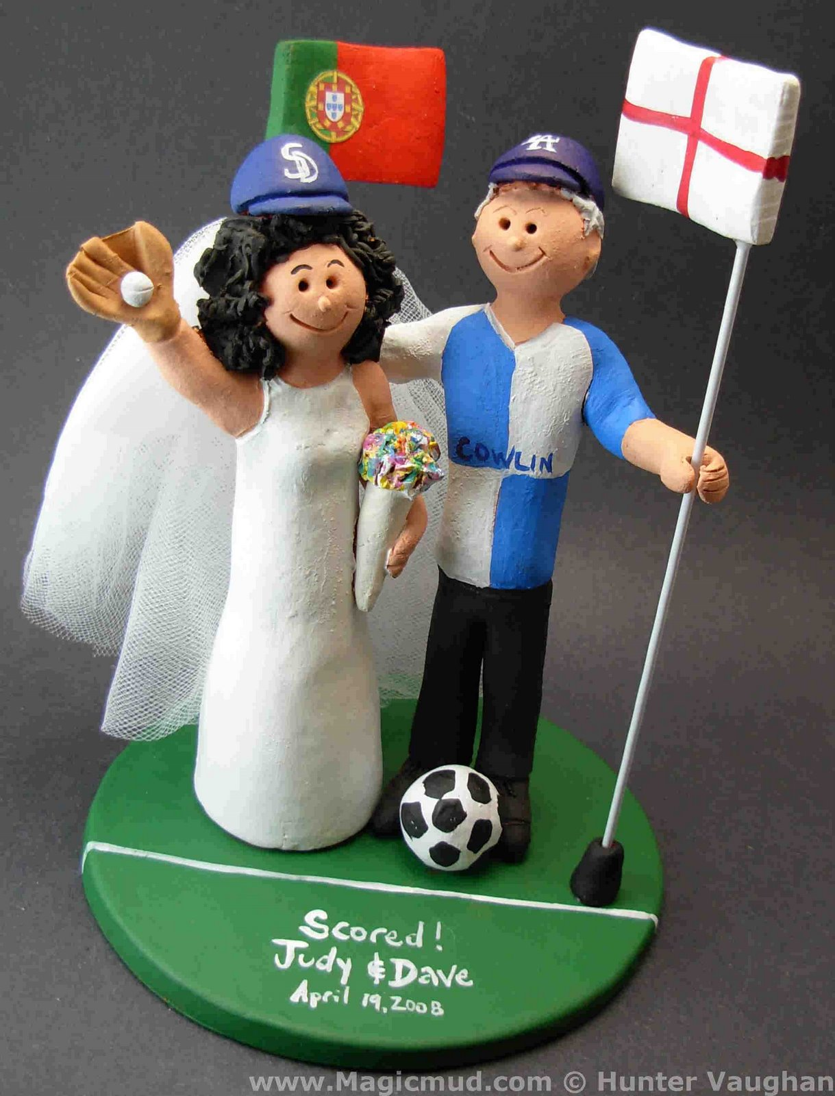 wedding cake topper of the daybristol rovers soccer fan