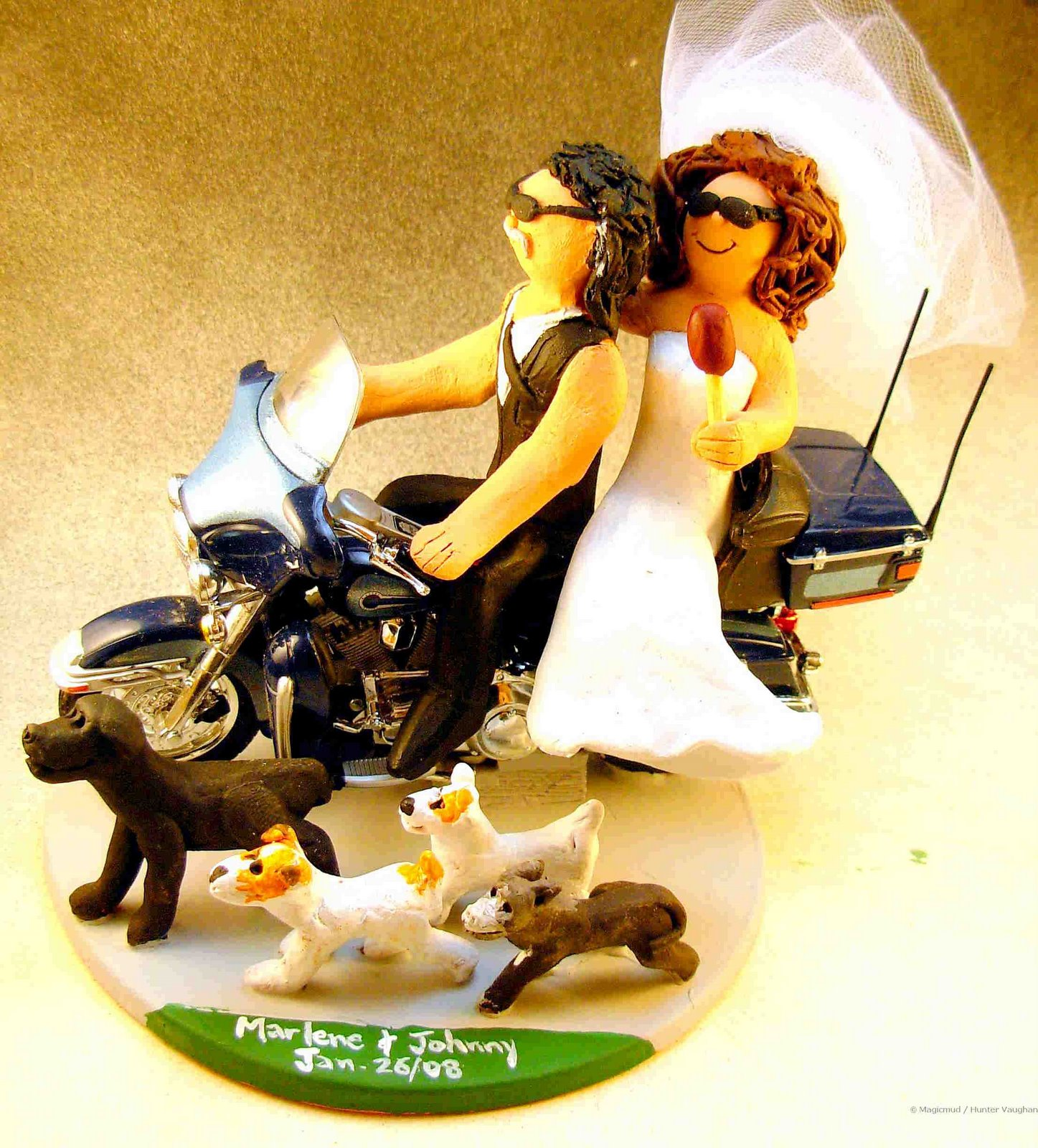 Wedding Cake Topper Of The DayHarley Davidson