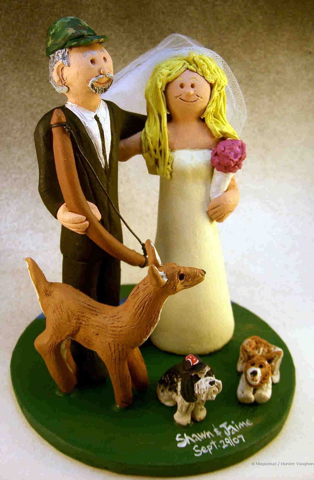 Wedding Cake Topper of the Day Deer Hunter s Cake Topper