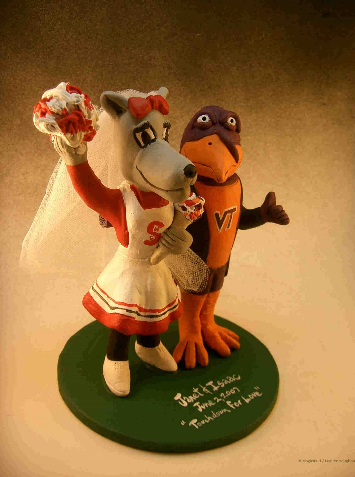 wedding cake toppers  Football Wedding Cake Toppers c635b87b2