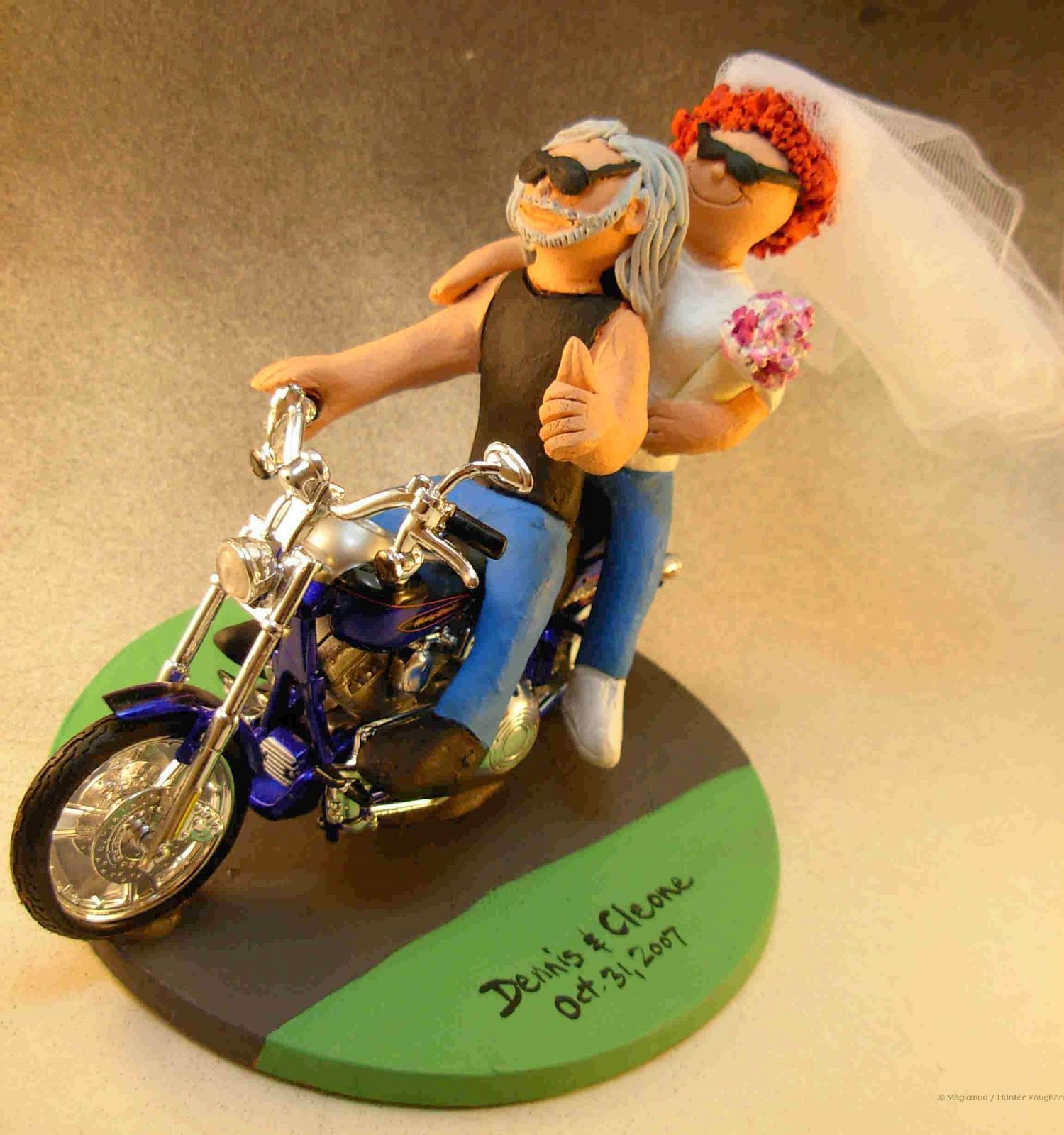 harley wedding cake toppers