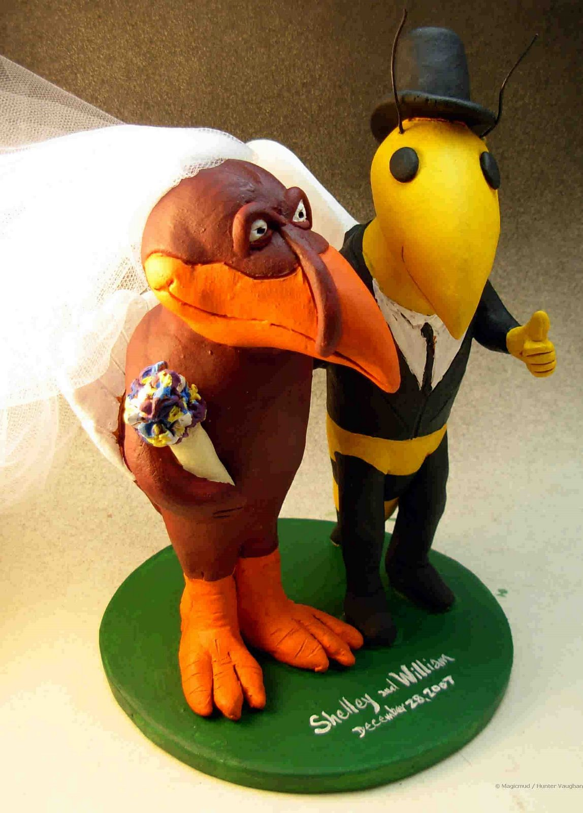 wedding cake toppers hockey