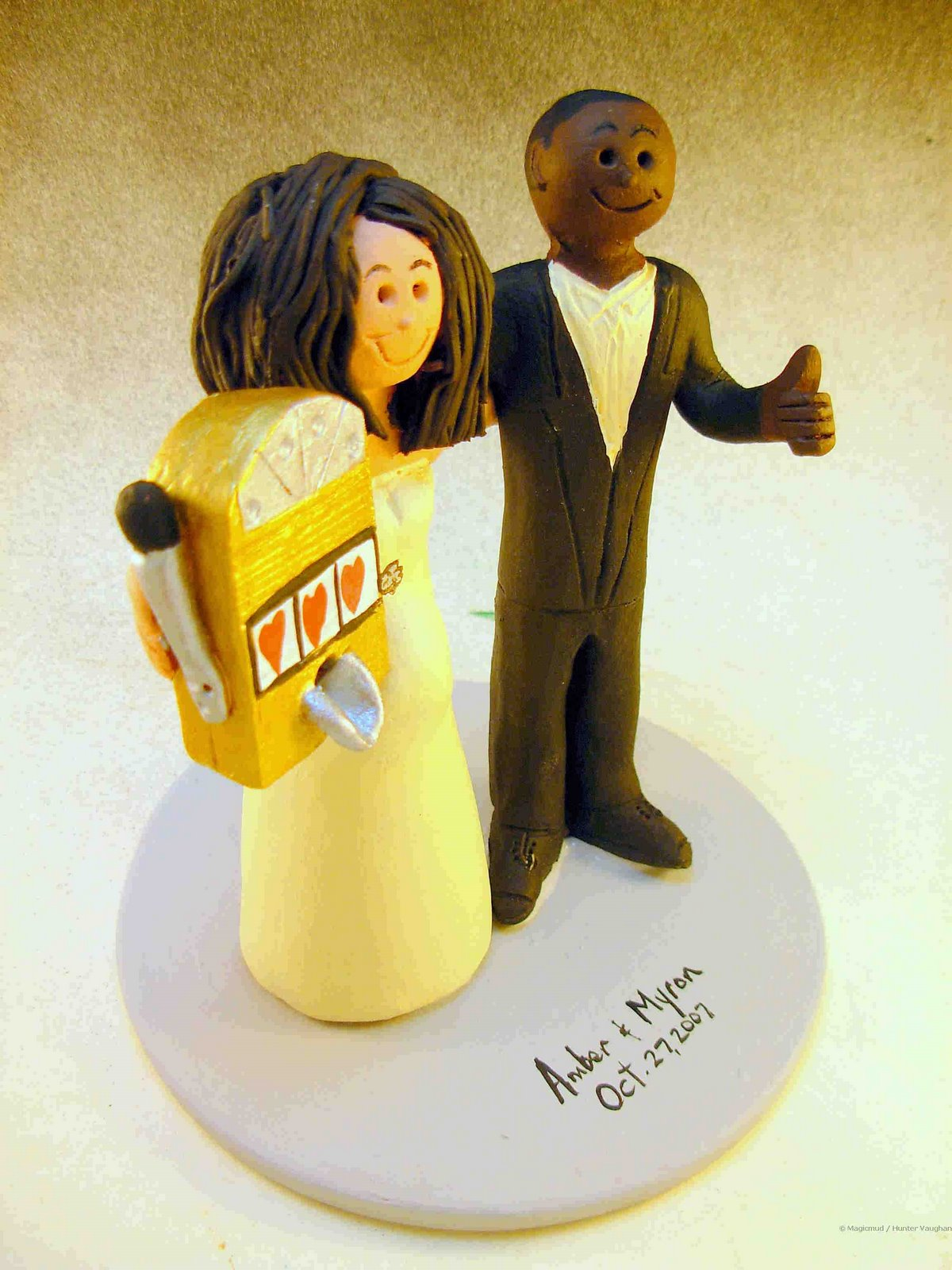 Wedding Cake Topper of the Day....Inter-Racial Wedding Cake Topper ...