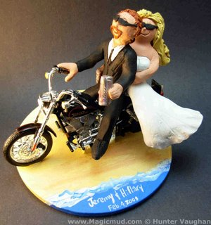 wedding cake topper of the day motorcyclists cake topper custom wedding cake toppers. Black Bedroom Furniture Sets. Home Design Ideas