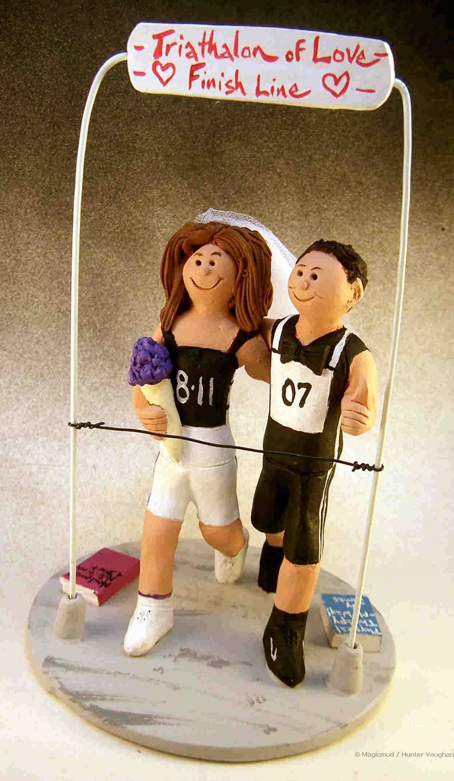 Custom Wedding Cake Toppers Wedding Cake Topper Of The DayJoggers Cake Topper