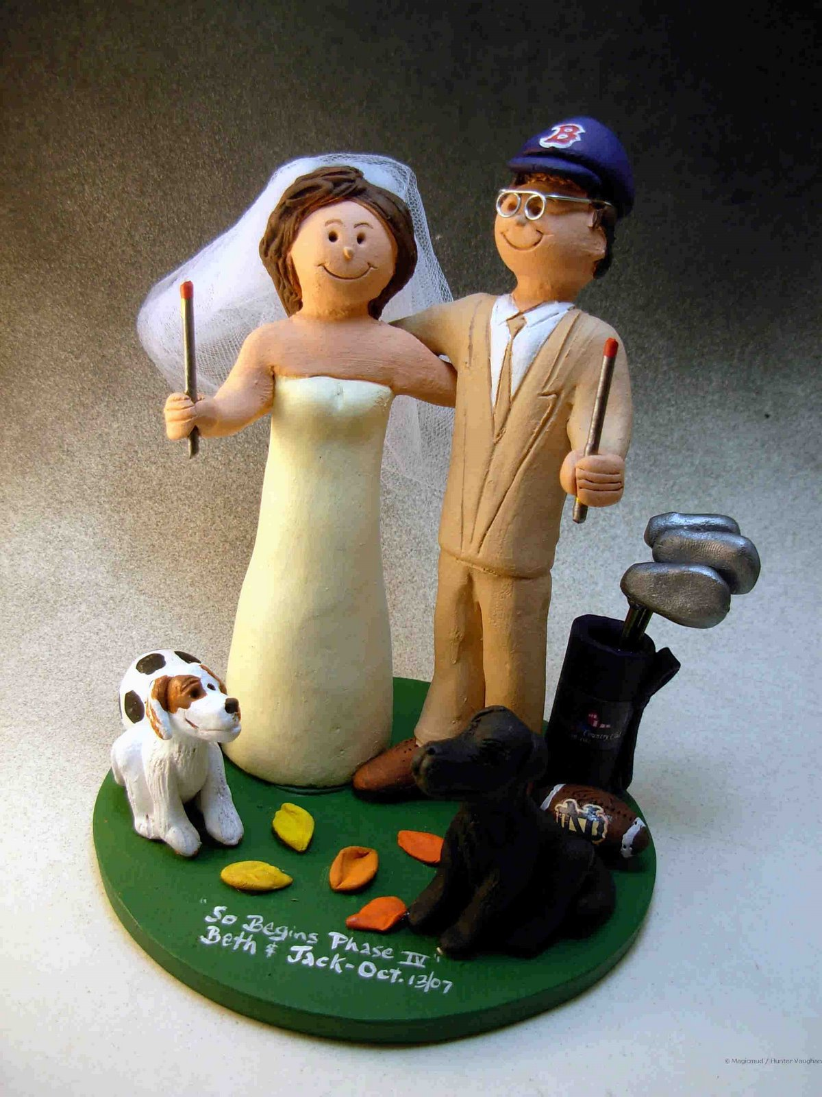Wedding Cake Topper Of The DayCake With Pet Dogs