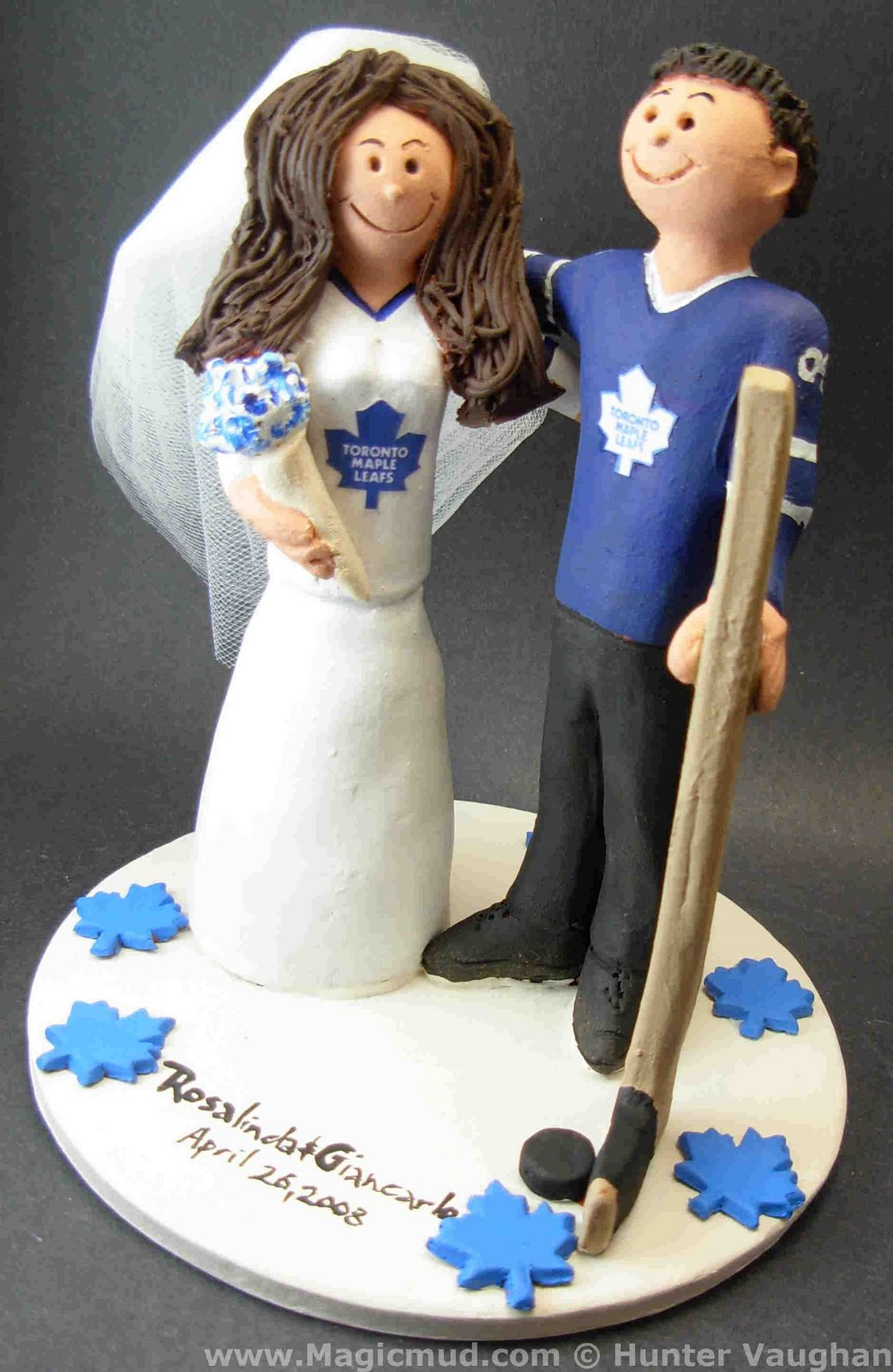 Wedding Cake Topper Of The DayToronto Maple Leafs Cake Topper