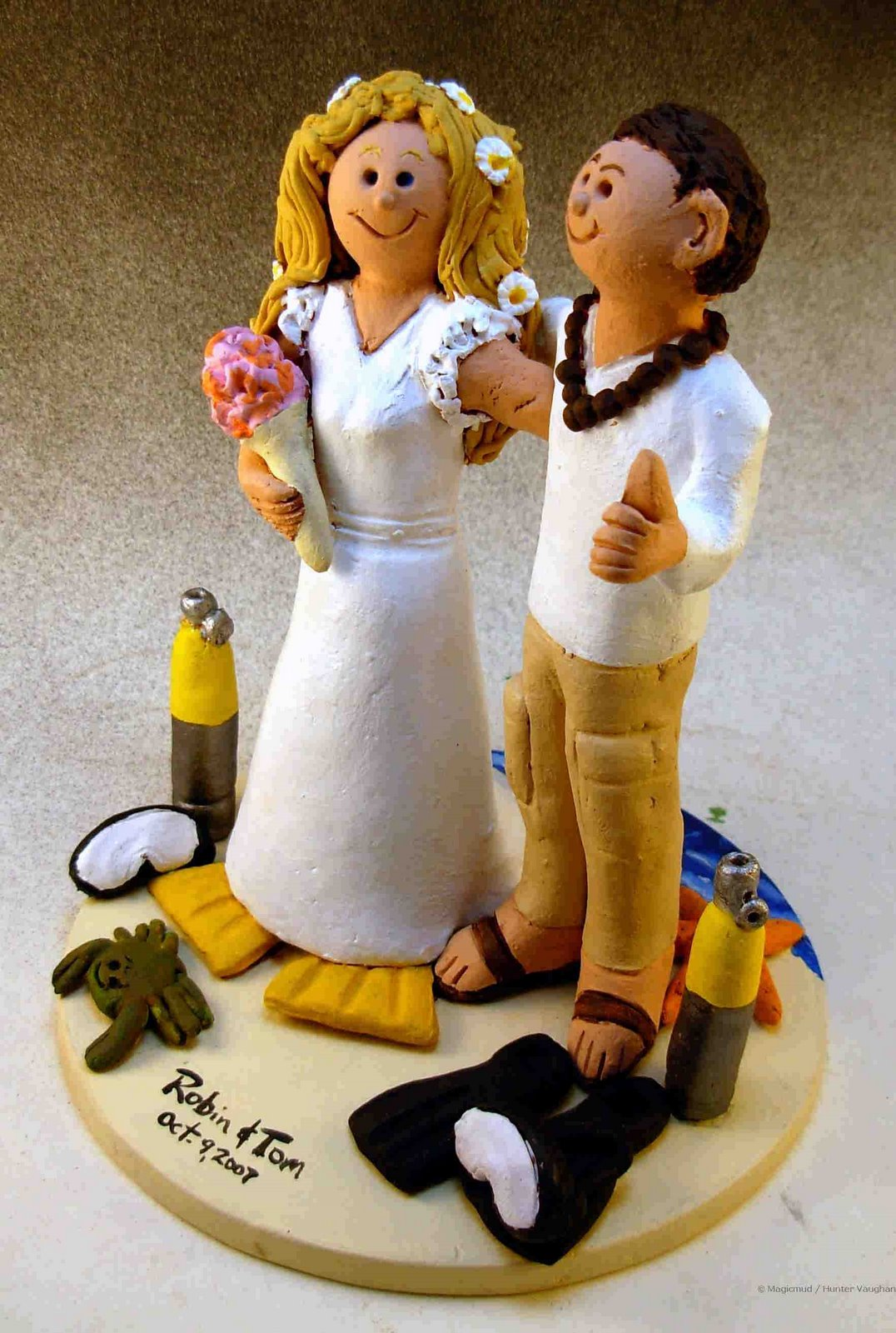 Wedding Cake Topper Of The DayScuba Divers