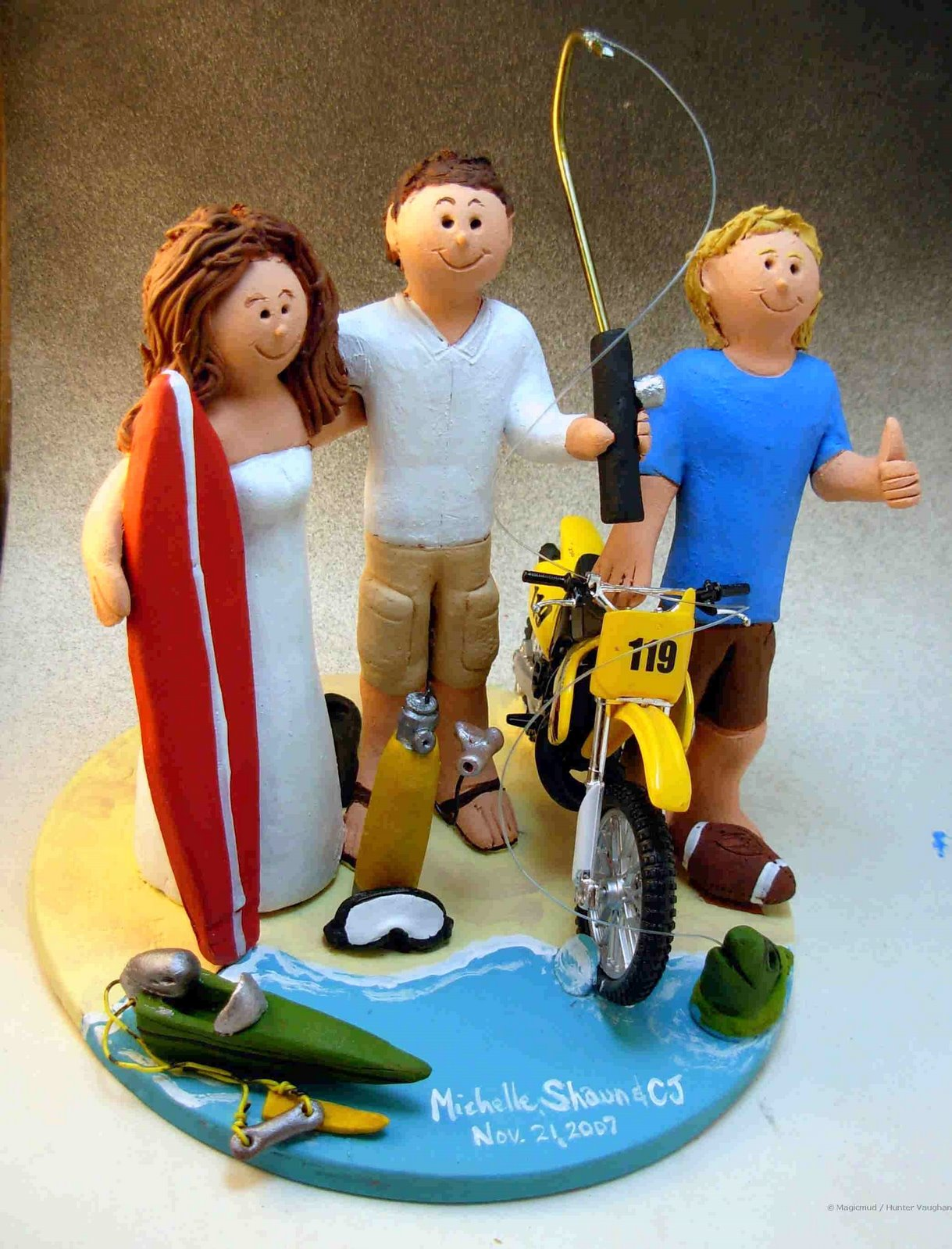 motorcycle cake toppers for wedding cakes