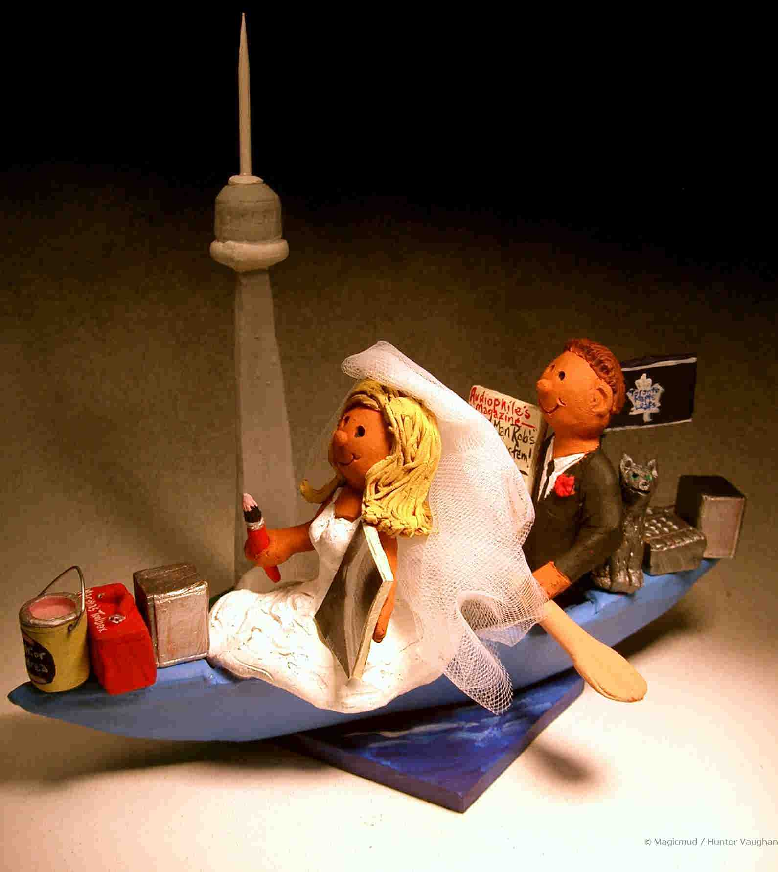 Wedding Cake Topper For Kayakers